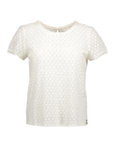 Only T-shirt onlLINE FAIRY S/S TOP WVN 15137034 Cloud Dancer