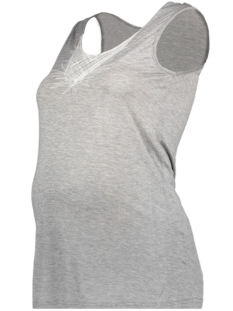Mama-Licious Positie shirt MLKUNA JERSEY TANK TOP 20007352 Light Grey Melange