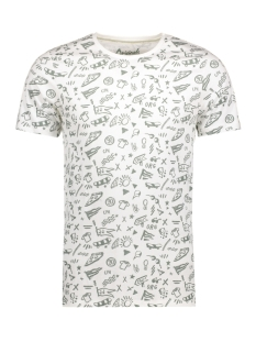 Jack & Jones T-shirt JORCROWN TEE SS CREW NECK 12127255 Cloud Dancer/Slim