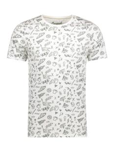 Jack & Jones T-shirt JORCROWN TEE SS CREW NECK 12127255 Cloud Dancer/Slim