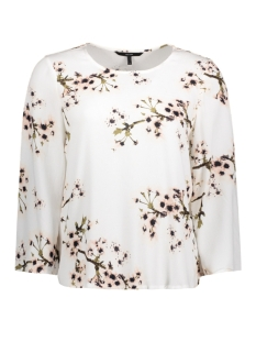 VMOCCASION WIDE 3/4 SLEEVE TOP D2-5 10183877 Snow White/Flower