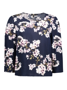 vmoccasion wide 3/4 sleeve top d2-5 10183877 vero moda blouse navy blazer/flower