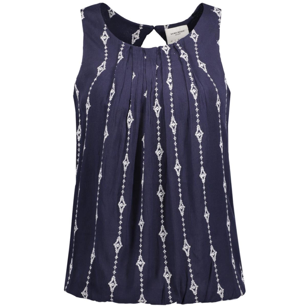 vmjuliana s/l top dnm lcs 10184867 vero moda top navy blazer/embroidery