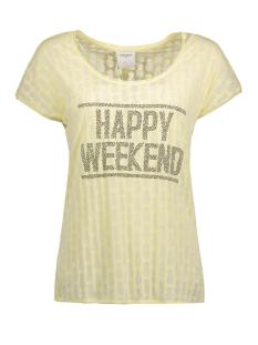 Vero Moda T-shirt VMERIN PINA SS WIDE TOP DNM JRS 10176844 Wax Yellow/Burnout