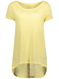 Only T-shirt onlCASA S/S BUTTON TOP JRS NOOS 15096872 Pale Banana