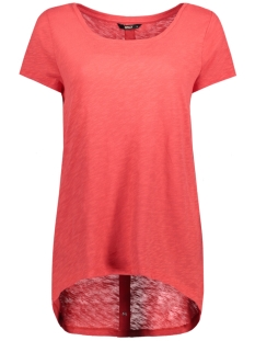 Only T-shirt onlCASA S/S BUTTON TOP JRS NOOS 15096872 Poinsettia