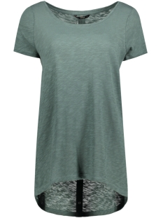 Only T-shirt onlCASA S/S BUTTON TOP JRS NOOS 15096872 Balsam Green