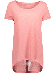 Only T-shirt onlCASA S/S BUTTON TOP JRS NOOS 15096872 Strawberry Ice