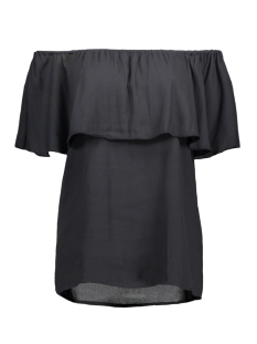 onlmina ariel offshoulder top solid 15135766 only t-shirt dark navy
