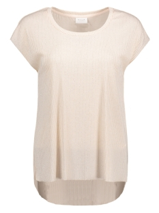 Vila T-shirt VIMAKA S/S TOP 14043160 Silver Peony