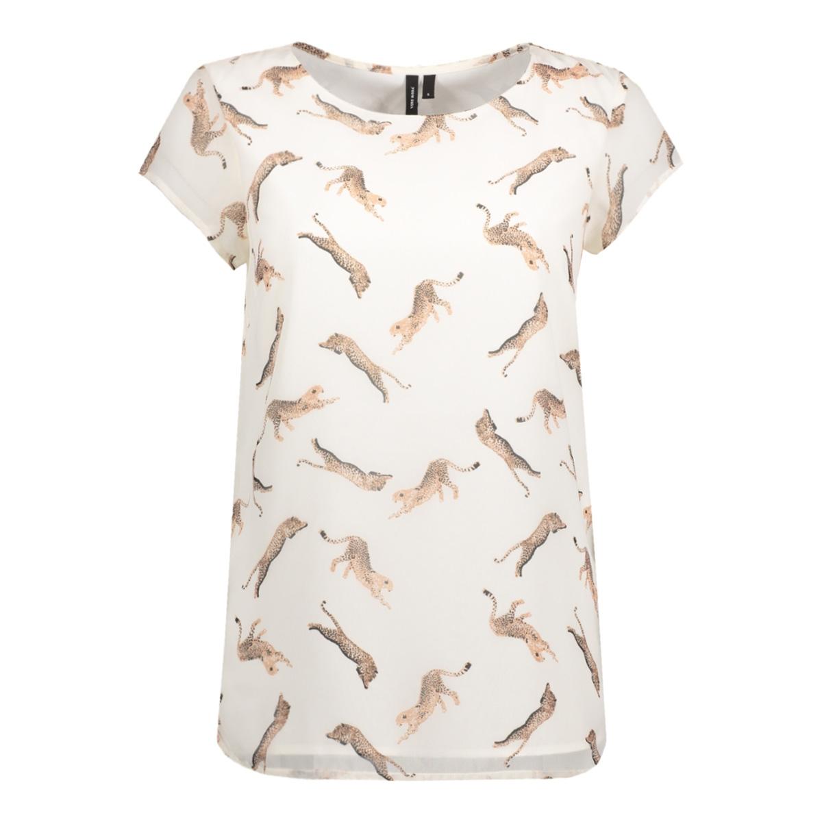 vmliz s/s side slit boca ff17 10188890 vero moda t-shirt snow white