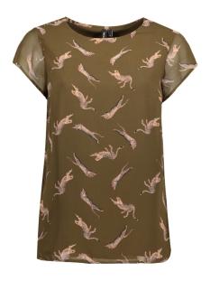 Vero Moda T-shirt VMLIZ S/S SIDE SLIT BOCA FF17 10188890 Dark Olive