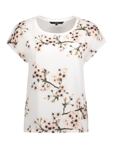 Vero Moda T-shirt VMJACINE OCCASION S/S TOP D2-5 LOCA 10189648 Snow White/Flower