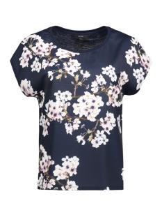 Vero Moda T-shirt VMJACINE OCCASION S/S TOP D2-5 LOCA 10189648 Navy Blazer/Flower