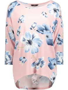 Only Trui onlELCOS OLGA 4/5 TOP JRS 15147151 Rose Smoke/BLUE FLOWE