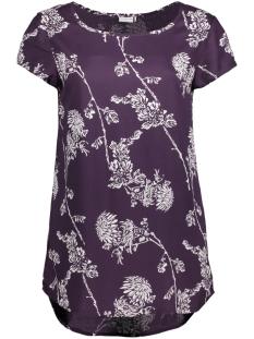 Jacqueline de Yong T-shirt JDYLISA MARLEY S/S TOP WVN 15146626 Nightshade/CLOUD DANC