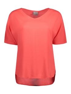 Vero Moda T-shirt VMNOW SS MIDI TOP A 10175009 Hibiscus