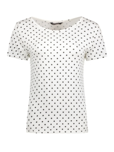 Only T-shirt onyARLI S/S TOP JRS 15140754 Cloud Dancer/Dots