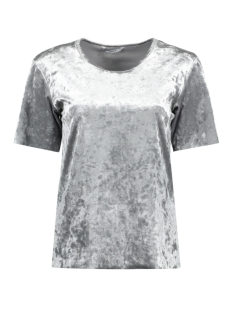onlPUNTI VELOUR S/S TOP JRS 15143564 Silver Colour