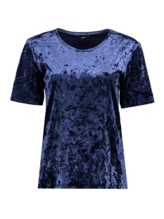 Only T-shirt onlPUNTI VELOUR S/S TOP JRS 15143564 Night Sky