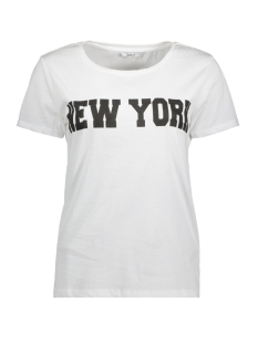 Only T-shirt onlBROOKLYN S/S TOP BOX JRS RPT1 15149070 White
