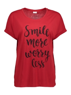 Jacqueline de Yong T-shirt JDYLEONORA S/S TOP JRS 15146615 Scarlet Sage/Smile