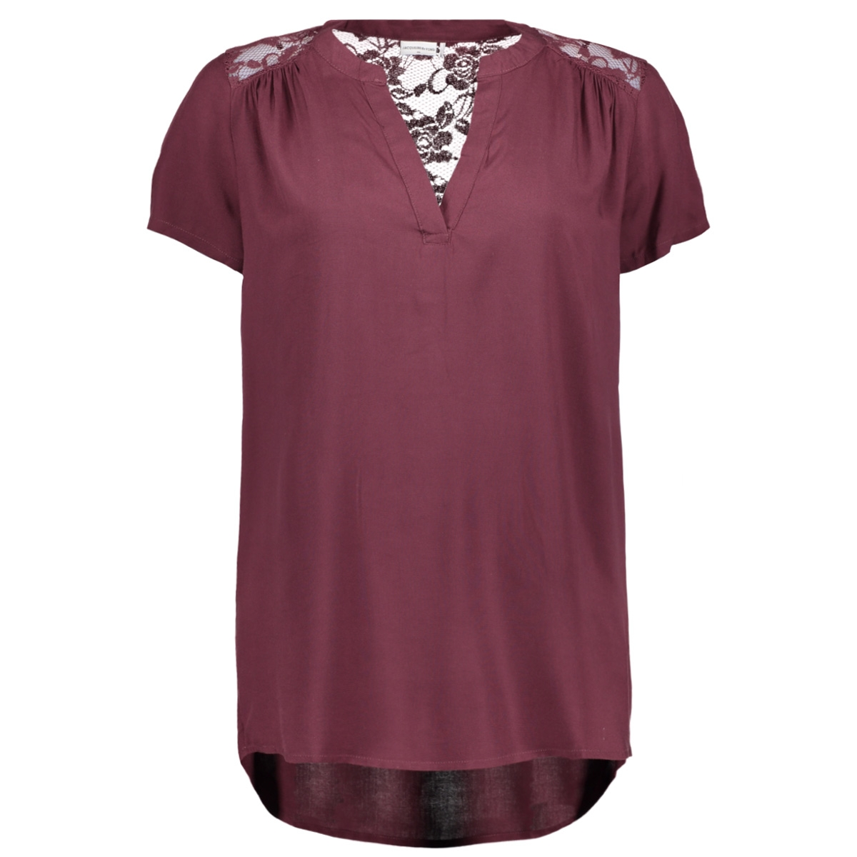 jdyliva s/s loose top wvn 15135335 jacqueline de yong blouse vineyard wine