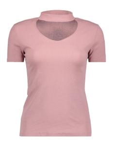 Jacqueline de Yong T-shirt JDYLEROY NEVADA S/S CHOKER TOP JRS 15146612 Woodrose