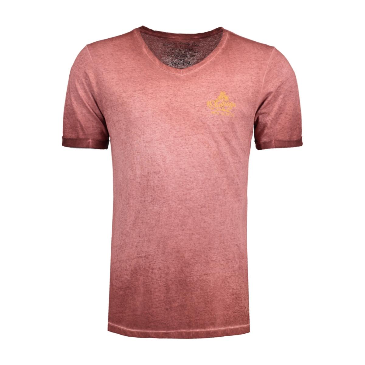 jjvcubansurf ss tee 12132099 jack & jones t-shirt burnt henna