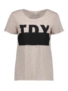 Jacqueline de Yong T-shirt JDYBOLETTE S/S PRINT TOP JRS 15133655 Simply Taupe/JDY