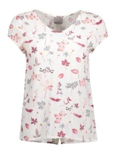 Vero Moda T-shirt VMSANNE VISC S/S MIDI TOP 10179771 Snow White/Sanne Print