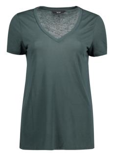 Vero Moda T-shirt VMSPICY V-NECK SS TOP NOOS 10183688 Green Gables