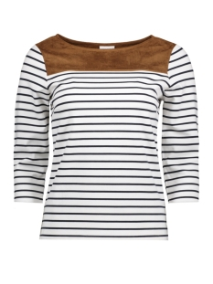 Vila T-shirt VITINNY MIX TOP/2 14043929 Snow White/Oak Brown