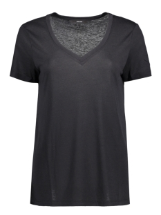 vmspicy v-neck ss top noos 10183688 vero moda t-shirt black