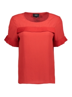 Object T-shirt OBJTOVE S/S TOP 92 23024768 Pompeian Red
