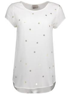 Vero Moda T-shirt VMBOCA SS BLOUSE FOIL AOP PRINT 10178397 Snow White