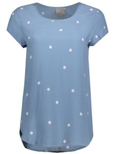 vmboca ss blouse foil aop print 10178397 vero moda t-shirt bluestone