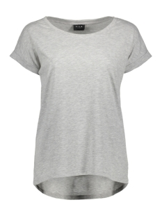 Vila T-shirt VIDREAMERS PURE T-SHIRT-NOOS 14025668 Light Grey Mela/Melange