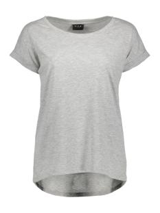 Vila T-shirt VIDREAMERS PURE T-SHIRT-NOOS 14025668 Light Grey Mela/Melange