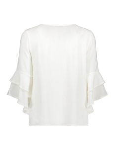 onlsindi 3/4 bell sleeve top wvn 15147792 only blouse cloud dancer