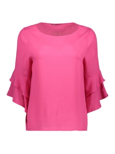 Only Blouse onlSINDI 3/4 BELL SLEEVE TOP WVN 15147792 Fuchsia Purple