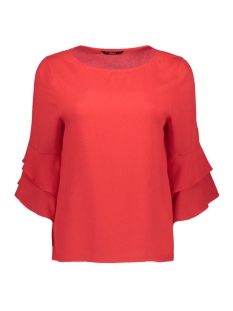 onlsindi 3/4 bell sleeve top wvn 15147792 only blouse flame scarlet
