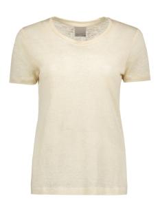 Vero Moda T-shirt VMREZA S/S LINEN TOP A 10171543 Oatmeal