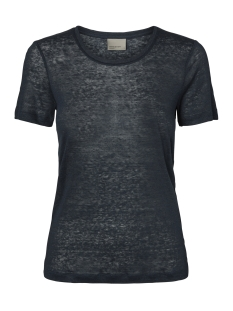 Vero Moda T-shirt VMREZA S/S LINEN TOP A 10171543 Navy Blazer