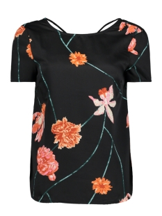 VMROSE STRING S/S TOP NFS 10190471 Black/Rose