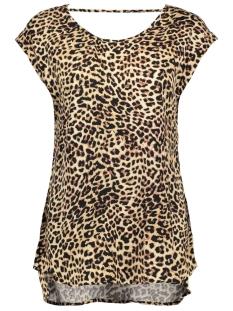 Vero Moda T-shirt VMNEWMAKER SS OPEN BACK TOP RETAIL 10188451 Snow White/Animal