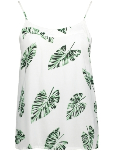 Vero Moda Top VMNOW SINGLET A 10175882 Snow White/Greenpalma