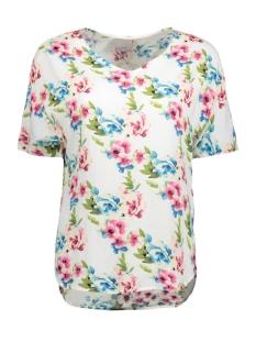 Vero Moda T-shirt VMNOW SS MIDI TOP A 10175009 Snow White/Florisa Pr