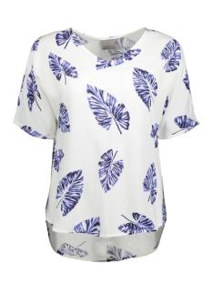 Vero Moda T-shirt VMNOW SS MIDI TOP A 10175009 Snow White/Bluepalma