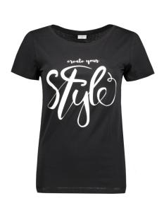 Jacqueline de Yong T-shirt JDYCHICAGO 5 S/S PRINT TOP 06 JRS 15136986 Black/STYLE
